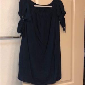 Lulus navy off the shoulder dress